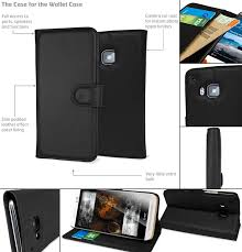 encase leather style htc one m9 wallet case black