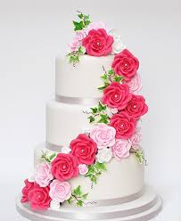 3 Tier Cake With Beautiful Roses In Mixed Colors Sri Lanka Online