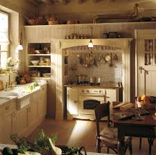 Kitchen:French Cottage Kitchen Style With Wonderful Kitchen Sets And Double  Luxury Chandelier Vintage French