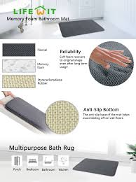 Memory Foam Kitchen Floor Mat Amazoncom Lifewit 32 X 20 Anti Slip Bath Rugs Memory Foam Soft