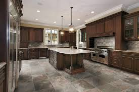 Wood Tile Floor Kitchen Ceramic Tile Kitchen Floor As Wood Tile Flooring Ideal Home Depot