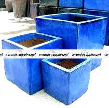 ceramic outdoor planters large ceramic planters tall tapered square planters outdoor glazed pots ceramic large blue ceramic outdoor planters