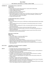 Biological Scientist Resume Samples Velvet Jobs