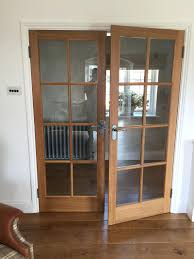 Interior Door With Glass Panel Soundproing Internal Oak Wood Fire ...