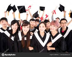 happy young group graduates holding diploma stock photo  happy young group graduates holding diploma stock photo 136675734