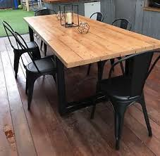 Image Round Dining Recycled Timber Industrial Dining Table With Black Metal Legs Gumtree Recycled Timber Industrial Dining Table With Black Metal Legs