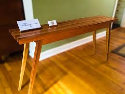 cherry sofa table. Custom Made Mid Century Modern Reclaimed Oak And Cherry Sofa Table Console N