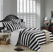 Black And White Striped Duvet Cover Bedding Sets -Full Queen King ... & Black And White Striped Duvet Cover Bedding Sets Adamdwight.com