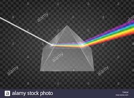 Pirámide de Cristal, la refracción de la luz, con efecto Espectro de prisma  Imagen Vector de stock - Alamy