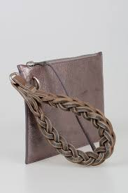 leather wrist pouch pochette