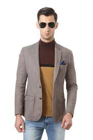Solly Sport Suits Blazers Allen Solly Beige Wimbledon Blazer For Men At Allensolly Com