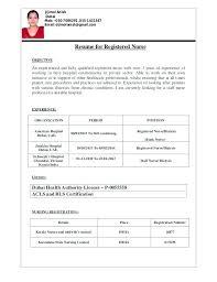 Staff Nurse Resume Format Resume Format For Experienced Staff Nurse Foodcity Me
