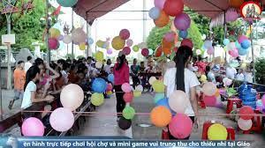 Trực tiếp hội chợ và mini game vui trung thu cho thiếu nhi tại Gx Bồng Tiên  - Gp Thái Bình 1/10/2017 - YouTube