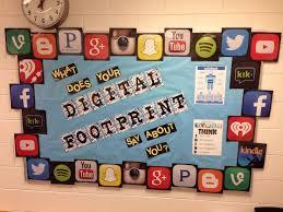 cork board ideas for office. digital footprint bulletin board for my counseling office online citizenship cork ideas 1