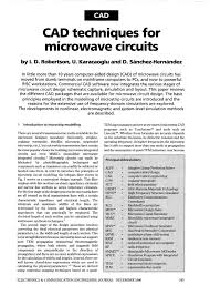 Rf And Microwave Circuit Design For Wireless Communications Pdf Cad Techniques For Microwave Circuits