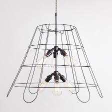 Lampshade Frame Chandelier 6 Bulb Flea Market Rx