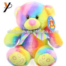 Custom Stuffed Plush Colourful Rainbow Bear Buy Rainbow Bear Plush