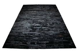 black patchwork cowhide rug in stripes design shine rugs black patchwork cowhide rug design in stripes