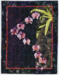 172 best Orchid quilt images on Pinterest   Floral arrangements ... & Cascading Orchids Quilt Adamdwight.com