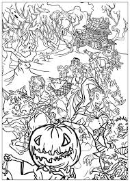 Halloween Monsters Halloween Adult Coloring Pages