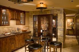 cherry pub and with glass cabinet and drawer s home bar traditional and design