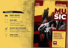 Concert Flyer Templates Free Concert Event Flyer Templates Free Photoshop Brushes At