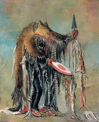 catlin purchased this blackfoot siksika cine man s bearskin and wore it to enliven the presentation of his gallery smithsonian american art museum