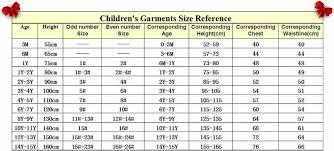 Kids Size Chart Us Kids
