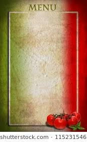 italian menu background. Simple Italian Traditional Italian Flag With Tomatoes And Basil On Blank Frame With Menu Background E
