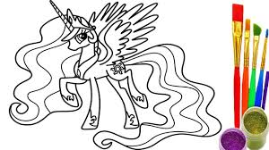 1280x720 how to draw rainbows my little pony coloring pages drawing and