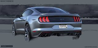 2018 ford concept cars. exellent cars in sketches many of the 2018 mustangu0027s new attributes regarding  performance are emphasized on ford concept cars