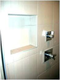 shower stall shelves walk in tile with glass corner sh