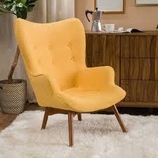 canyon vista mid century wingback chair reviews allmodern
