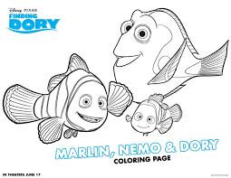 Super Cute Free Finding Dory Coloring