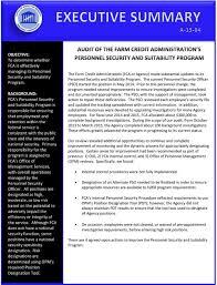 Position Designation Tool Audit Report Office Of Inspector General Farm Credit