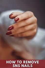 remove sns nails dip powder removal
