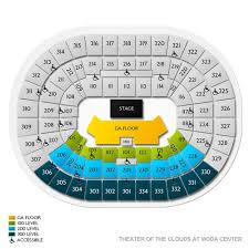 Theater Of The Clouds Seating Chart Theater Of The Clouds At Moda Center Tickets