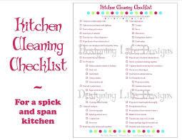 Kitchen Cleaning Checklist PDF Printable Home Management