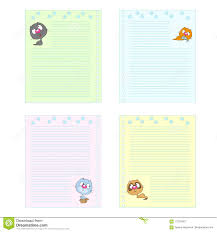 Collection Of Colored Pages Cute Cartoon Cats Template Notebook