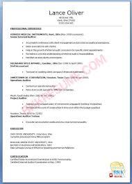 Internal Resume Resume Templates