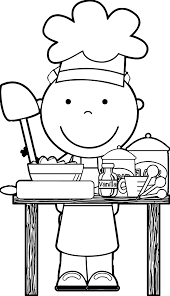 Small Picture Chef Cooking Free Images Kids Coloring Page Wecoloringpage