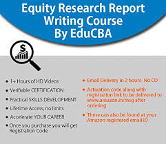 Equity Research Report Writing By Educba Email Delivery In 2 Hours