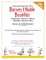 book fair fundraiser e m e r s o n s t a r s wimpy bookfair flyer 8×11 color 1