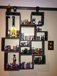 shot glass shelves my shot glass display a it wooden shot glass shelf shot glass