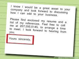 How To Write A Resume Cover Letter Awesome 28 Ways To Write A Cover Letter WikiHow