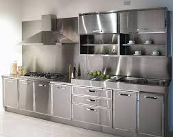 stainless steel kitchen cabinets for minimalist kitchen white floor minimalist look stainless steel kitchen cabinets