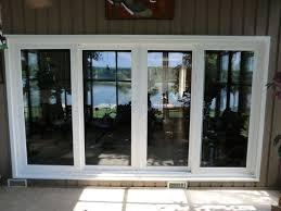vinyl sliding patio door and glass and
