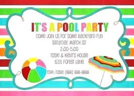 Pizza Party Invitation Templates Pool Party Invitations Templates Free Printable Summer Invitation