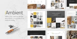 Ambient  A Contemporary Theme for Interior Design Decoration and  Architecture by ElatedThemes