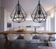 2016 art deco vintage pendant lights led lamp metal cube cage lampshade lighting hanging light fixture for ktv bart art lights